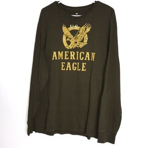 3/$20 AMERICAN EAGLE MEN'S CLASSIC FIT GREEN SHIRT